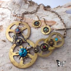 Steampunk Funk - ooak industrial necklace