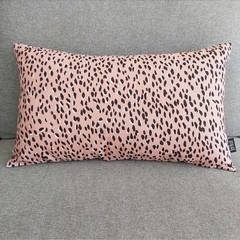 Cushion cover - pink leopard print
