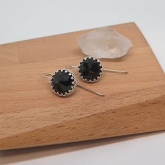 Elegance, Black Swarovski Crystal Earrings