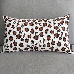 Cushion cover - white leopard print