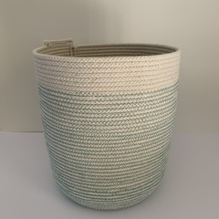 Rope Basket - with Teal Stitching