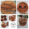 Personalised Chunky Timber Acacia Coasters with image or personal message