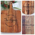 Personalised Etched Timber Acacia Boards - Family Stamp