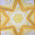 Star Throw with upcycled doiley