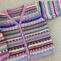 Pink Cardigan - Size 3-4 years- Hand knitted