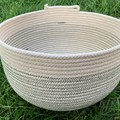 Rope Basket - Forest Green Stitching