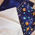 Baby Burp Cloth & Reusable Wipes Set