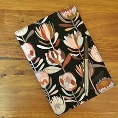 Note Pad Cover - Black Protea