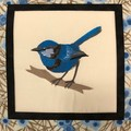 Australiana cushion cover - Blue Wren