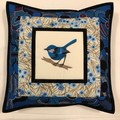 Australiana cushion cover - Blue Wren