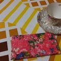 Handy Tea Bag Wallet- Fruit and floral print