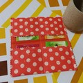Handy Tea Bag Wallet-Muted dots on orange