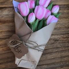 Vanilla Sugar Cookies Pink Tulips