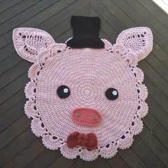 Pinky the Pig Floor Rug