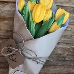 Vanilla Sugar Cookies Yellow Tulips
