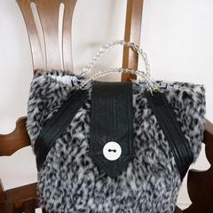 Faux Fur Hand Bag