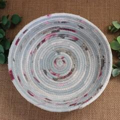 Rope Bowl- Pink and Grey
