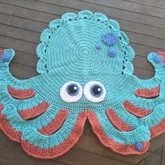 Inky the Octopus Floor Rug