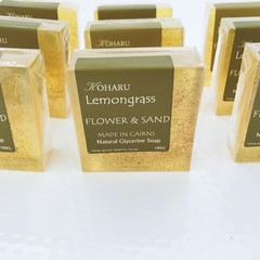 CLEAR SOAP- Lemongrass - Flower and Sand