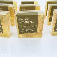 CLEAR SOAP- Lemongrass - Flower and Sand