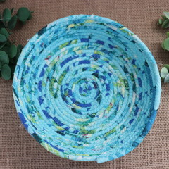 Rope Bowl- Blue and Green