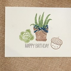 Birthday Day Card for plant lover  - free postage