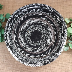 Rope Bowl- Black and white