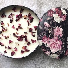 Rose Soy Candle - 1 wick / triple wick
