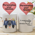 Personalised Bestie Mug - Up to 4 Besties, BFF Mug