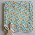 Baby Blanket - Whimsical Floral Fantasy - Cotton and Flannel