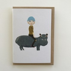 'Nice day for a hippo ride'