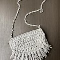 Handmade crochet bag.