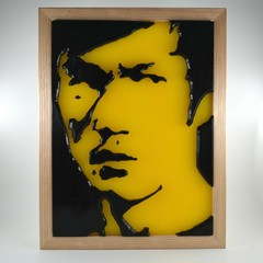 Bruce Lee Game Of Death Wax Painting Light Box