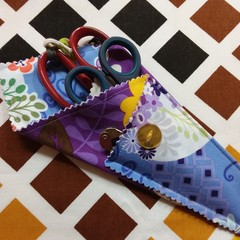Handy Scissor Holder-Funky lilac and purplef loral print