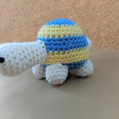 Crochet turtle stuffed toy