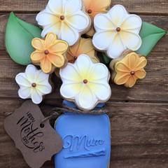 Vanilla Sugar Cookies Blue Flower Jar