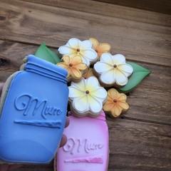 Vanilla Sugar Cookies Pink  Flower Jar