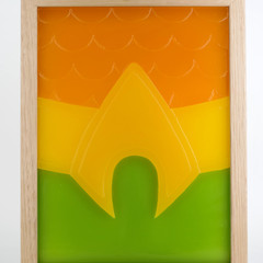 Aquaman Belt 3D Emblem Logo DC Comic Movie Justice League Wax Painting Light Box