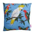 Vintage Retro Australian Cockatoo & Parrots Linen Cushion Cover