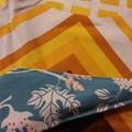 Handy Scissor Holder-Blue/orange/white Ikea fabric