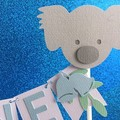 Koala Cake Topper. ONE Cake Bunting for birthday party, first birthday.