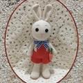 Crocheted Amigurumi Bunny