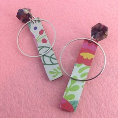 Spring print stick earrings