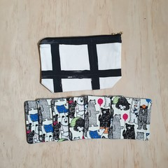 Gift pack special: OUMU zipper pouch and a set of 6 fabric coasters