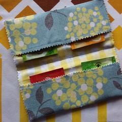 Handy Tea Bag Wallet- Wattle print