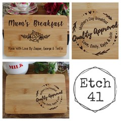 Personalised Mothers Day Mini Breakfast Boards