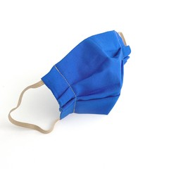 Royal Blue Cotton Face Mask with Filter Pocket And Nose Bridge Wire