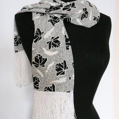 Scarf - Black Roses