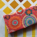 Handy Tea Bag Wallet- Modern mandala print