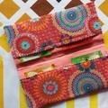 Handy Tea Bag Wallet- Modern mandala print